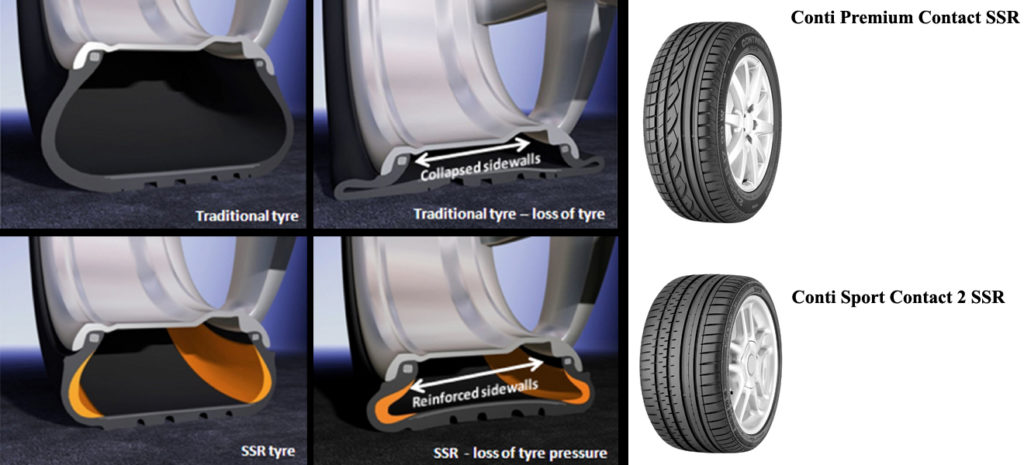 Traditional tyres vs Runflat tyres